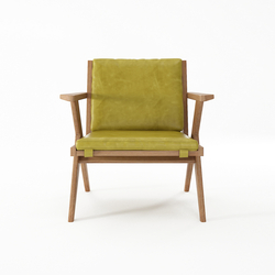 Tribute EASY CHAIR with LEATHER Olive Green | Poltrone | Karpenter