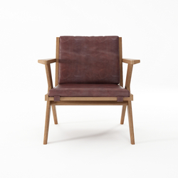 Tribute EASY CHAIR with LEATHER Dark Brownie | Sillones | Karpenter