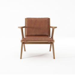 Tribute EASY CHAIR with LEATHER Vintage Brown | Sillones | Karpenter