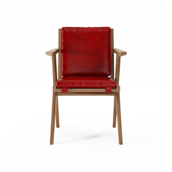 Tribute ARMCHAIR with LEATHER Vintage Red | Sillas | Karpenter
