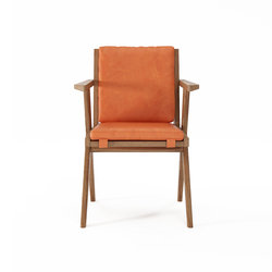 Tribute ARMCHAIR with LEATHER Tangerine | Sillas | Karpenter