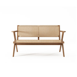 Tribute SOFA 2 SEATERS with WOVEN DANISH PAPER CORD | Divani | Karpenter