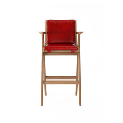Tribute BARSTOOL with LEATHER Vintage Red | Sgabelli bancone | Karpenter