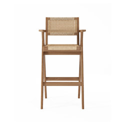 Tribute BARSTOOL with WOVEN DANISH PAPER CORD | Sgabelli bancone | Karpenter