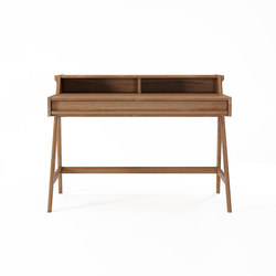 Tribute DESK TABLE with DRAWER & NICHES | Escritorios | Karpenter