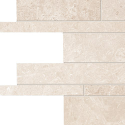 Milestone White Listelli sfalsati | Tiles | EMILGROUP