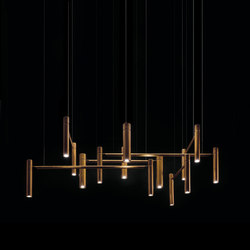 Tubular Horizontal. Ceiling | Pendant lights in metal | HENGE