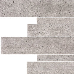 On Square Listelli Sfalsati Cemento | Ceramic tiles | EMILGROUP