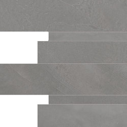 Architect Resin Mosaico Listelli London Smoke | Ceramic tiles | EMILGROUP