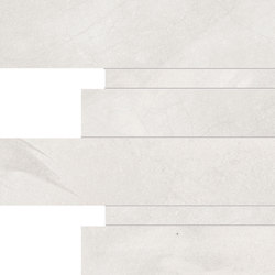 Architect Resin Mosaico Listelli Tokyo White | Baldosas de cerámica | EMILGROUP