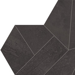 Architect Resin Design Bruxelles Black | Ceramic mosaics | EMILGROUP