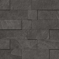 Cornerstone Slate Black Mosaico 3D | Ceramic mosaics | EMILGROUP