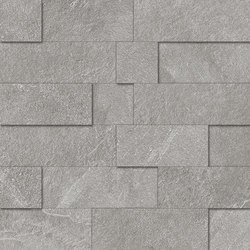 Cornerstone Slate Grey Mosaico 3D | Mosaics | EMILGROUP