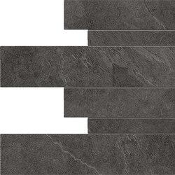 Cornerstone Slate Black Listelli sfalsati | Außenfliesen | EMILGROUP