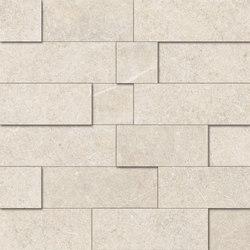 Limestone White Mosaico 3D | Mosaïques céramique | EMILGROUP