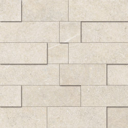 Limestone White Mosaico 3D | Mosaïques | EMILGROUP