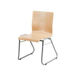 Gestell K | Schale 1014 | Sedie visitatori | Stechert Stahlrohrmöbel