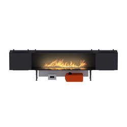 Fire Line Automatic XT in casing C & 2 BOX XT | Ventless ethanol fires | Planika