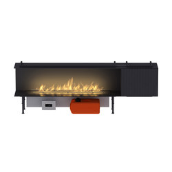 Fire Line Automatic XT in casing C & BOX XT | Ventless ethanol fires | Planika