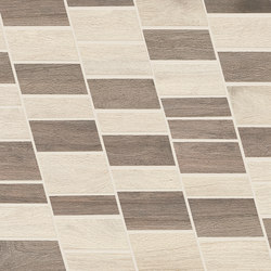 Wood Talk Mosaico Dyago White/Grey | Mosaïques céramique | EMILGROUP