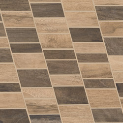 Wood Talk Mosaico Dyago Beige/Brown | Ceramic mosaics | EMILGROUP