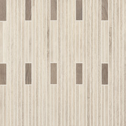 Wood Talk Mosaico Talk White/Grey | Ceramic mosaics | EMILGROUP