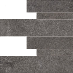 Dust Listelli Sfalsati Black | Ceramic tiles | EMILGROUP