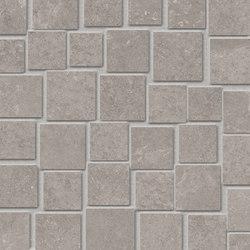 Groove Bright Grey Mosaico Penta | Ceramic mosaics | EMILGROUP