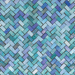 Zerodesign Mosaico Mare Lustrato Verde/Azzurro | Ceramic mosaics | EMILGROUP