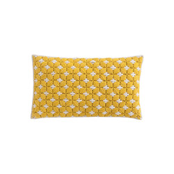 Silaï Cushion Yellow/White 5 | Kissen | GAN
