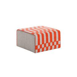Bandas Small Pouf B Orange 33 | Pufs | GAN