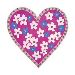Kids Rugs - Candy Hearts Fuchsia | Tappeti / Tappeti d'autore | Designers Guild