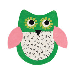 Kids Rugs - Little Owl Emerald | Tapis / Tapis design | Designers Guild