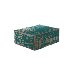 Canevas Pouf Soft Abstract Green 2 | Poufs | GAN