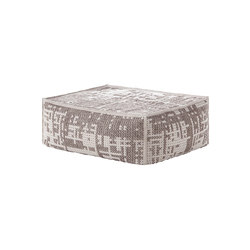 Canevas Pouf Soft Abstract Silver 3 | Pouf | GAN