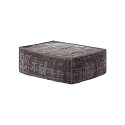 Canevas Pouf Soft Abstract Charcoal 4 | Poufs | GAN