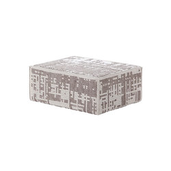 Canevas Pouf Modular Abstract Silver 7 | Poufs | GAN