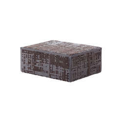 Canevas Pouf Modular Abstract Charcoal 8 | Poufs | GAN