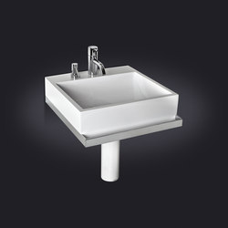 Quarenta Wall Mounted Washbasin | Vanity units | Vallvé