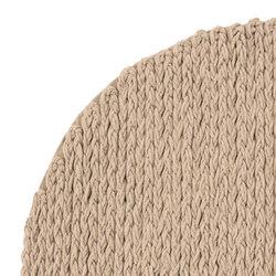 Trenzas Rug Circular Beige 4 | Formatteppiche / Designerteppiche | GAN