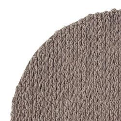 Trenzas Rug Circular Taupe 5 | Formatteppiche / Designerteppiche | GAN