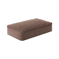 Trenzas Big Pouf Brown 6 | Poufs / Polsterhocker | GAN