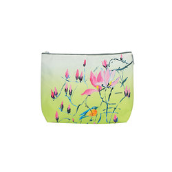 Washbag - Madame Butterfly Lime | Beauty accessory storage | Designers Guild