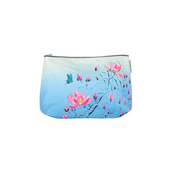 Washbag - Madame Butterfly Cerulean | Beauty accessory storage | Designers Guild