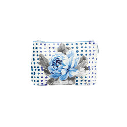 Washbag - Amlapura Cobalt Medium | Beauty accessory storage | Designers Guild