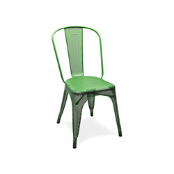 Perforated A chair RAL 6017 | Multipurpose chairs | Tolix