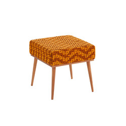 Detroit Stool Orange 1 | Ottomans | GAN