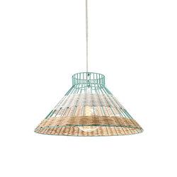 Hanging Lamp Rattan blue/white | Allgemeinbeleuchtung | Serax