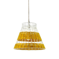 Hanging Lamp Rattan white/yellow | General lighting | Serax