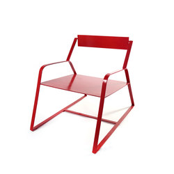Slitta Chair Antonino red | Loungesessel | Serax